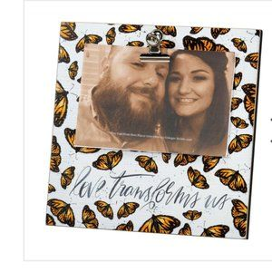 NWT Butterfly picture Frame Love Transforms Us